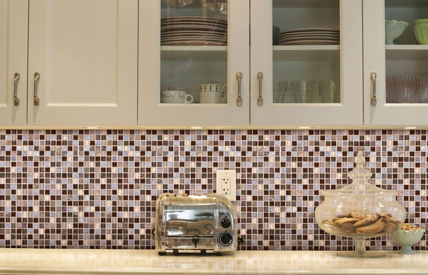 Mohawk Stone Treasure Mosaic Tiles available at Custom Home Interiors!