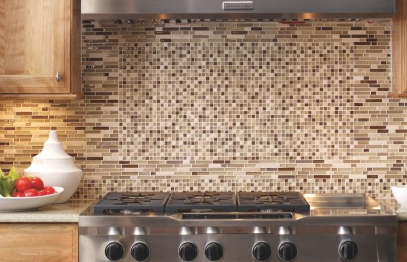 Bliss Natural Stone Mosaics available at Custom Home Interiors!