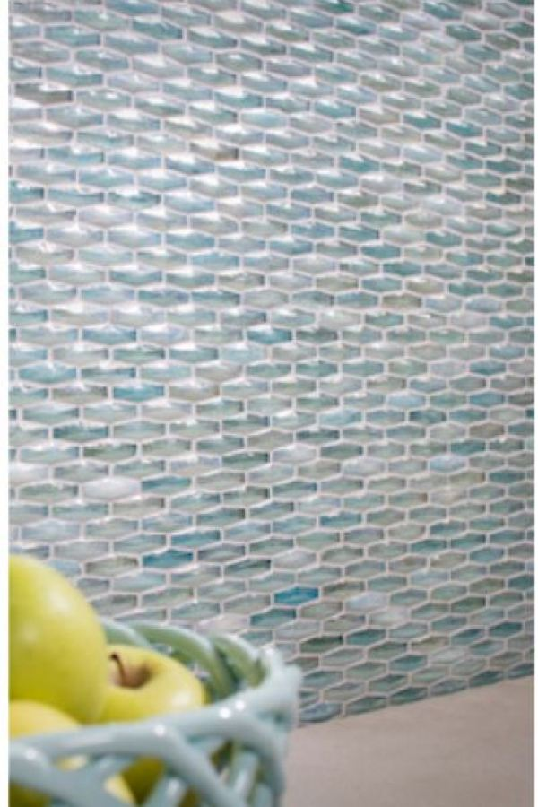 Oceanside Crystal Glass Mosaics at Custom Home Interiors
