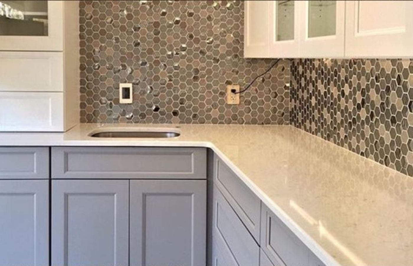 Glazzio Queen's Lair Octagon Mosaics  available at Custom Home Interiors!