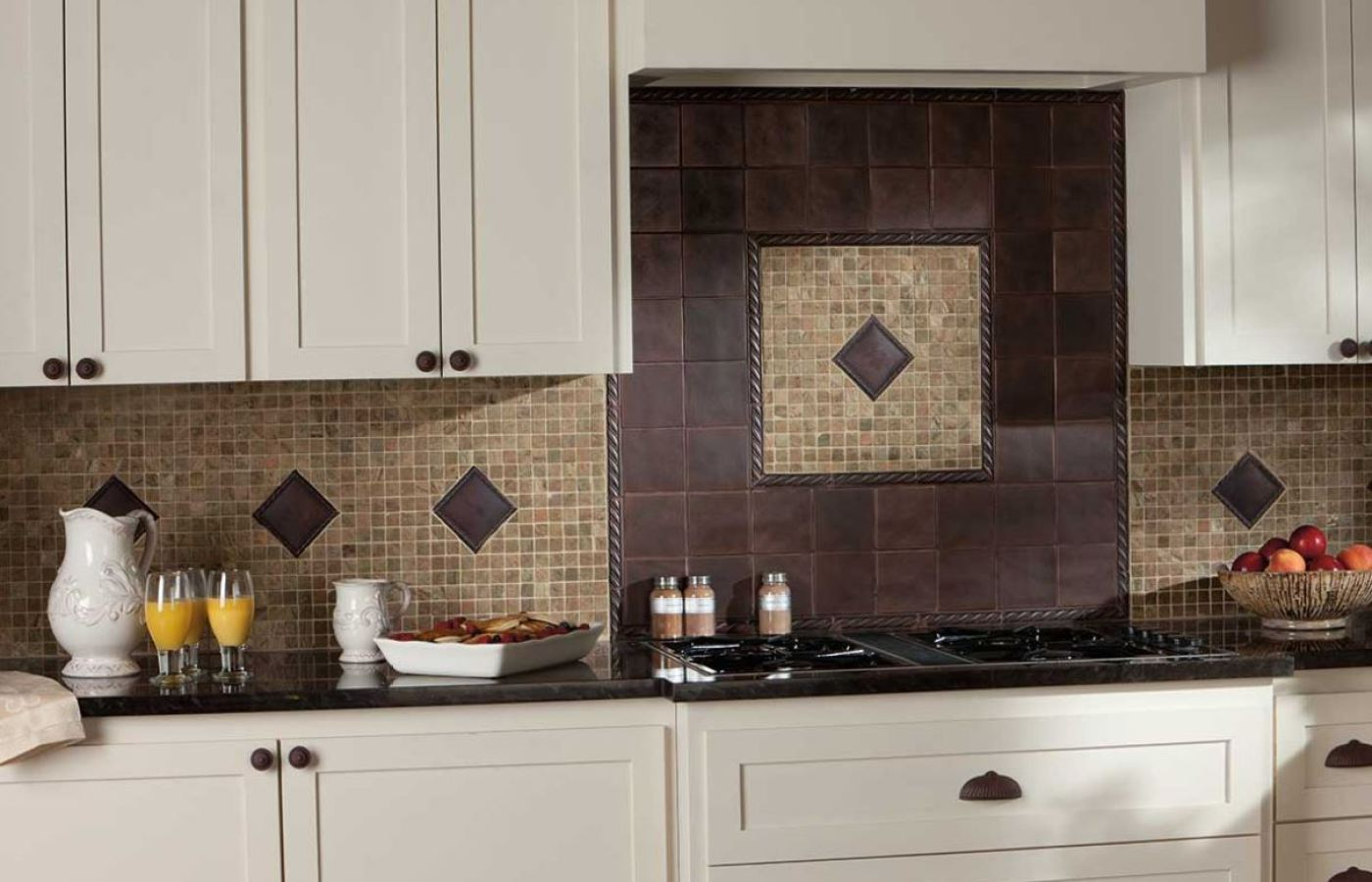 Metal Tiles & Natural Stone Mosaics available at Custom Home Interiors!