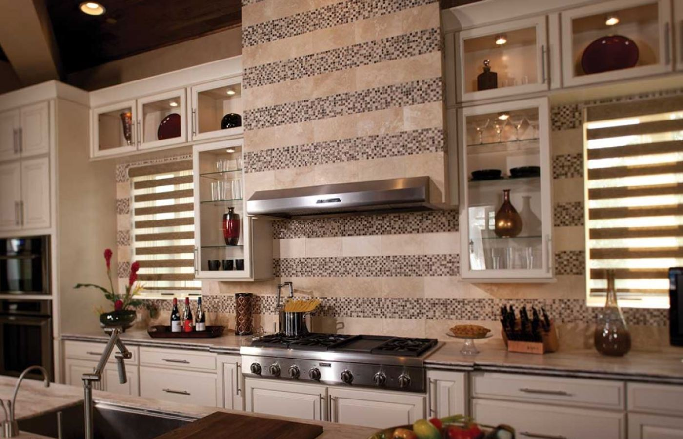 Mohawk Ceramic Tiles with Stone Treasure Mosaics available at Custom Home Interiors!