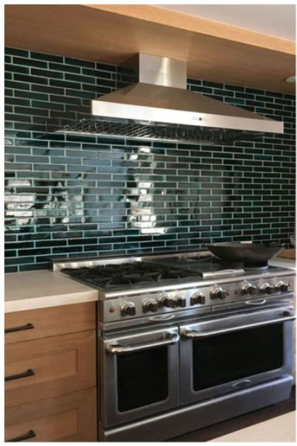 Emerald Glass Subway Mosaics
