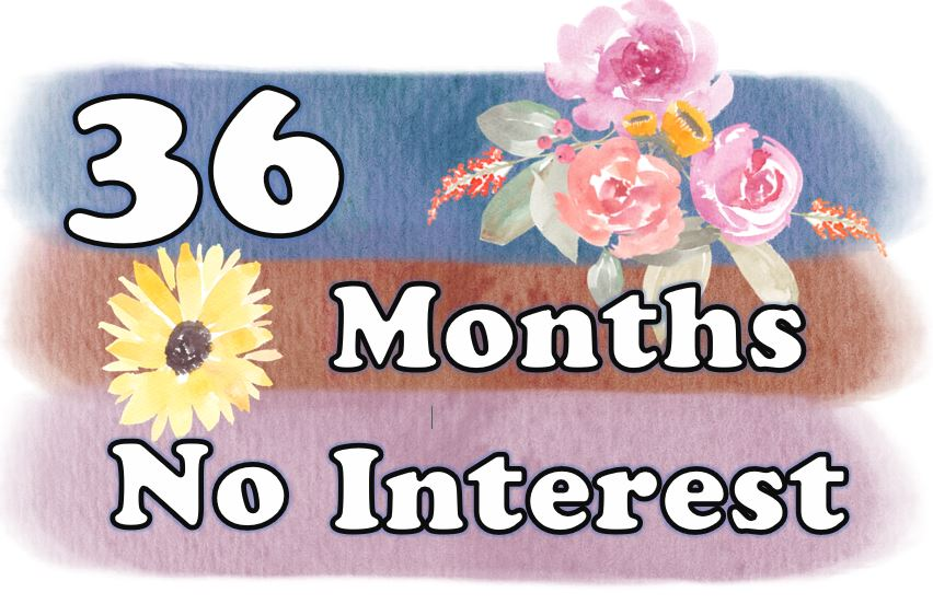 36 months no interest button oct 2018