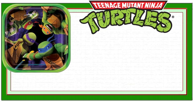 ninja turtle invitation templates free