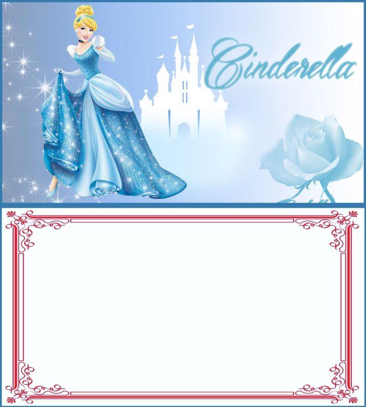 cinderella party invitation card free