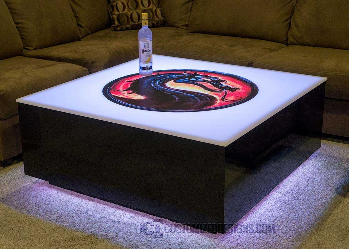 Cubix Series 44 Quot X 44 Quot Led Lighted Coffee Table Lounge
