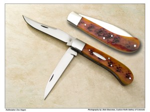 Doc Hagen Wharncliffe Trapper in Amber Jigged Bone