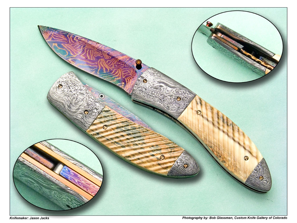 Jason Jacks Fluted Mammoth Folder | Custom Knife Gallery of Colorado