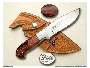 D'Holder Ironwood Burl Camp Knife