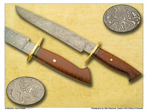 David Roeder Sole Authorship Damascus Snakewood Bowie