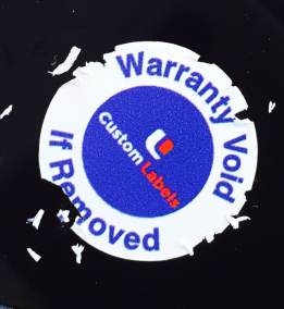 Warranty Void CL Ultra Destruct Label