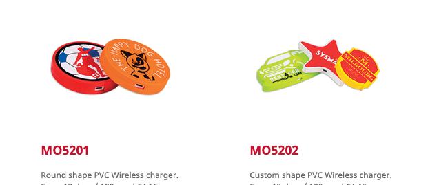 Custom made draadloze opladers