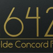 Anson Full Address Mailbox Decals Gold