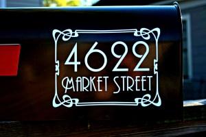 Art Nouveau Full Address Mailbox Numbers