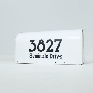 Oversized Mailbox Numbers Black on White