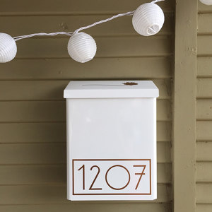 Copper Modern mailbox numbers