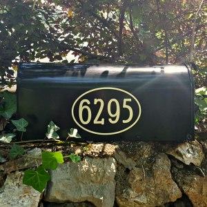 Beige Mailbox Numbers