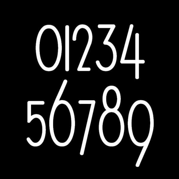 Modern Minimalist Style Mailbox Numbers Sample