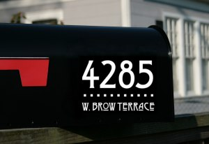 Craftsman Style Full address mailbox decals