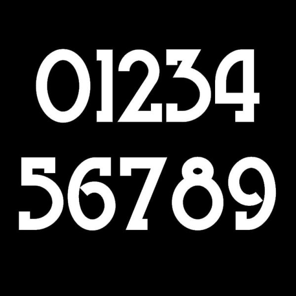 New Traditional Style Mailbox Numbers Sample