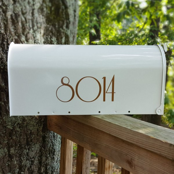 Mailbox Decals in Copper