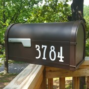 Upright traditional mailbox numbers