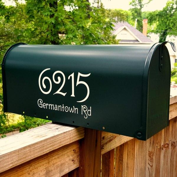 Guttenberg Mailbox Decals - Beige
