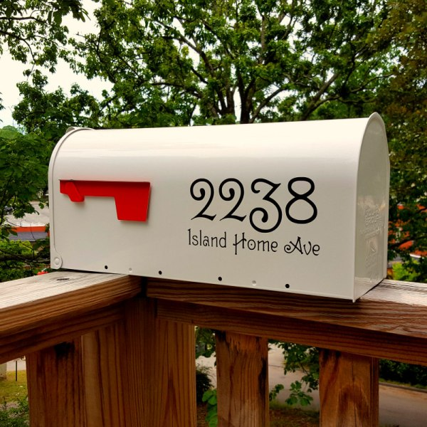 Guttenberg Mailbox Decals Black