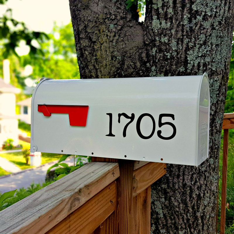 Michaels Style Mailbox Numbers