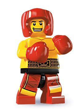 Lego Minifigures Series 5   Custom LEGO Minifigures Lego Boxer  The Boxer s fancy footwork and lightning fast fists have earned  him fans all over the world     but his biggest fan of all is the Boxer