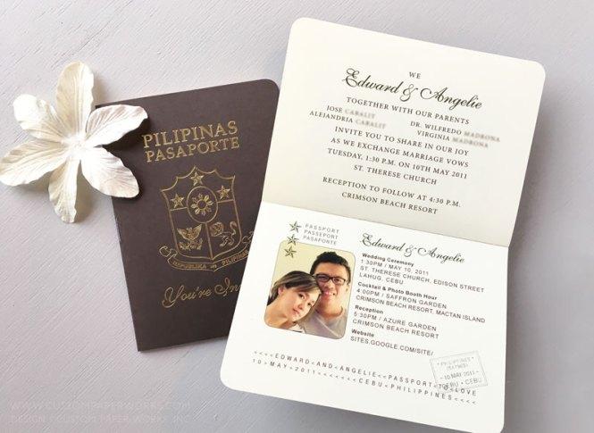 Philippines Wedding Passport Invitation
