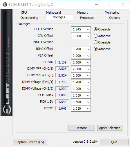 EVGA Elite Voltage