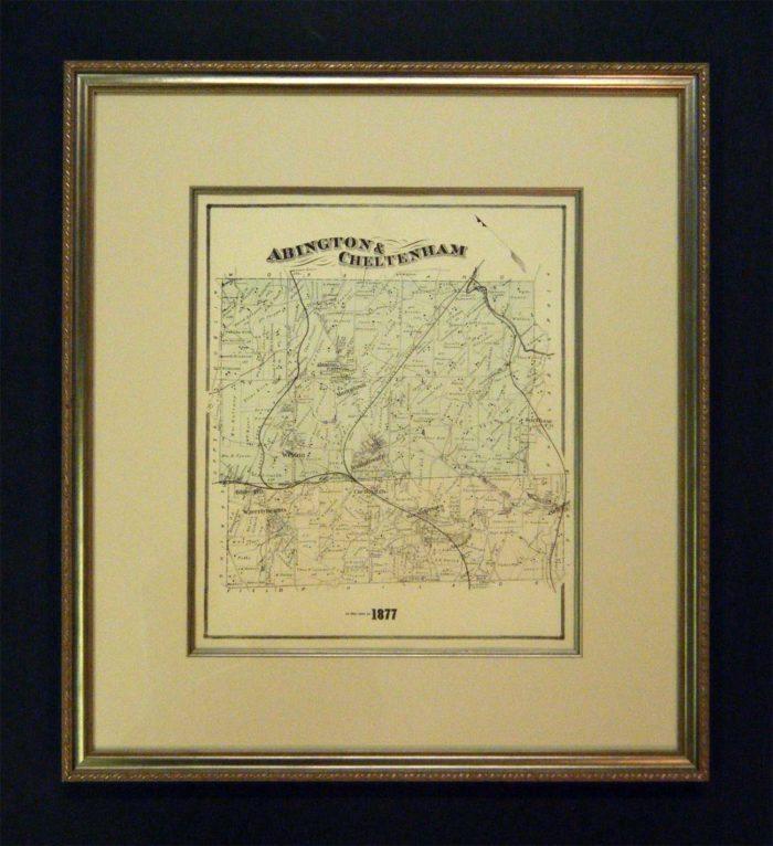 Framed Map of Abington, PA