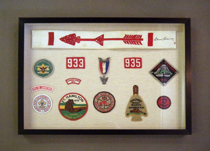 Boy Scout Memorabilia Shadowbox