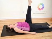 trim thighs with one leg circle