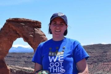 Sarah at Arches National Park