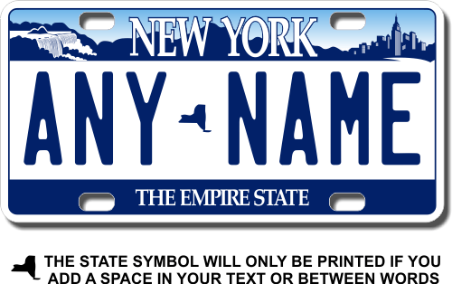 New York Motorcycle Plates