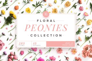 Floral Peonies Collection – Custom Scene