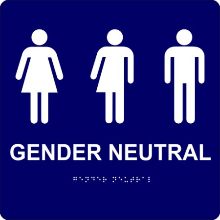 AllGender Restrooms Signs For Businesses Signage Professionals - Gender neutral bathroom signs