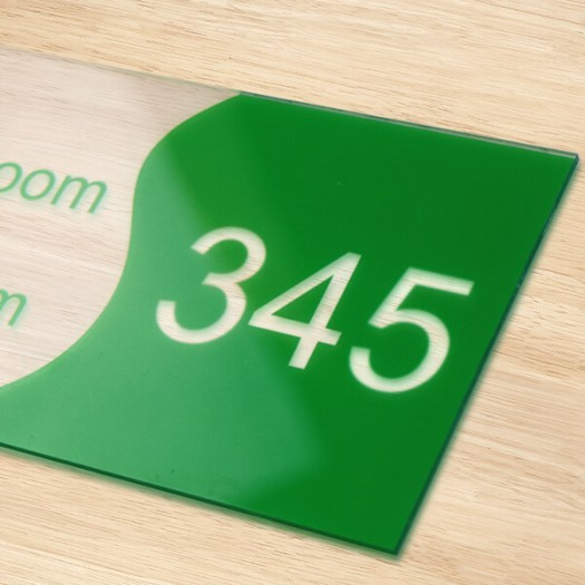 Acrylic Room Number Sign