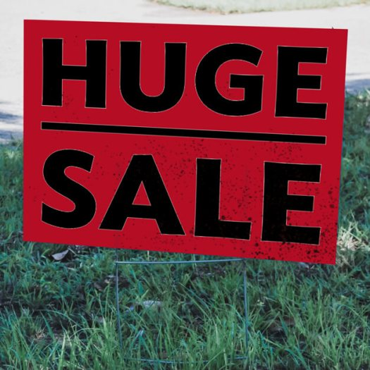 Red Huge Sale Yard Sign