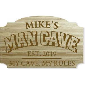personalized engraved man cave sign
