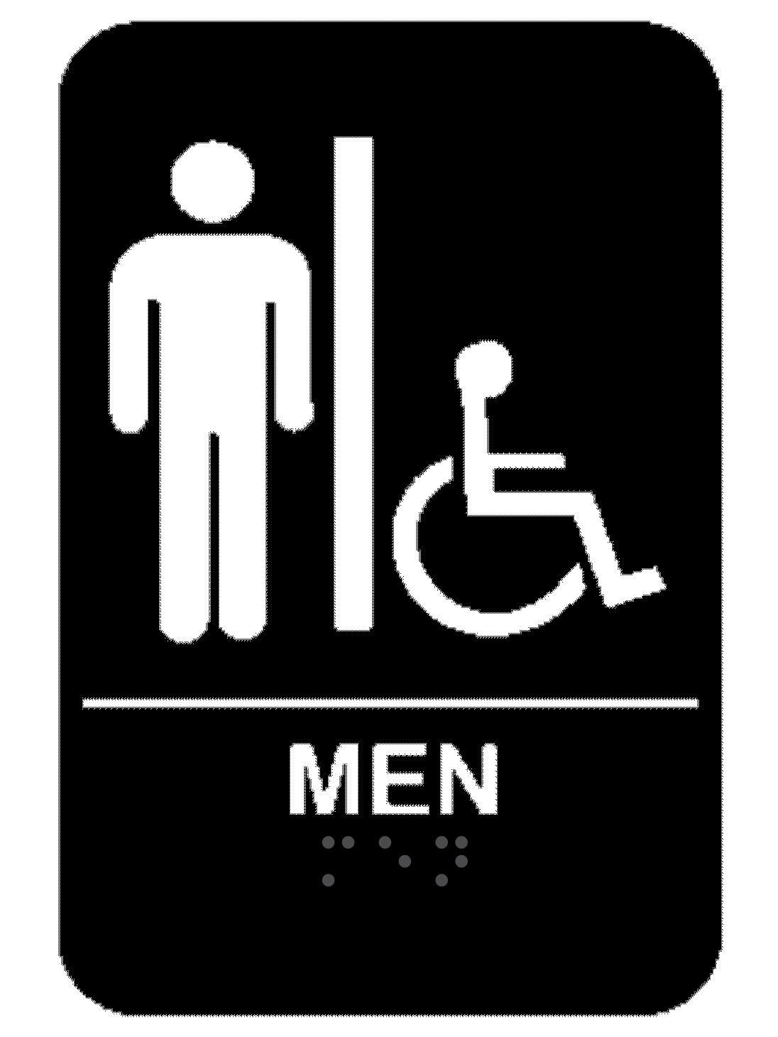 Men S Handicap Ada Braille Restroom Sign