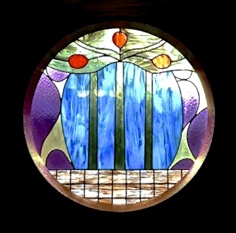 Church Stained Glass Blue