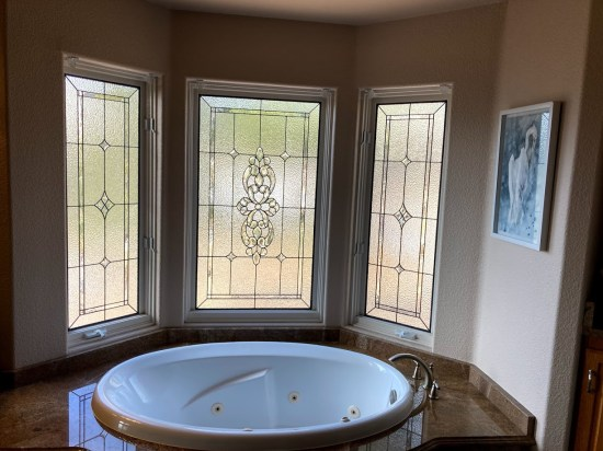 bathroom stained glass idea