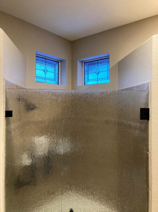 custom bathroom stained glass