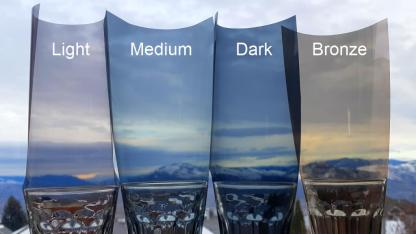 Window Tint Comparison Light Medium Dark Bronze