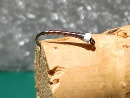 BDC White & Red Chironomid Pupa Fly
