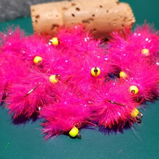 Blobber Blob Fly Pattern -Flo Fuchsia
